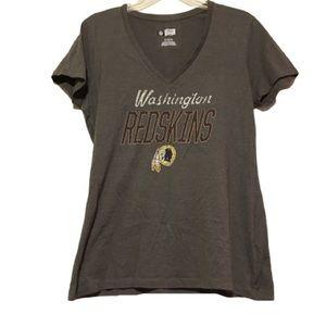 NFL Washington Redskins VNeck Glitter top